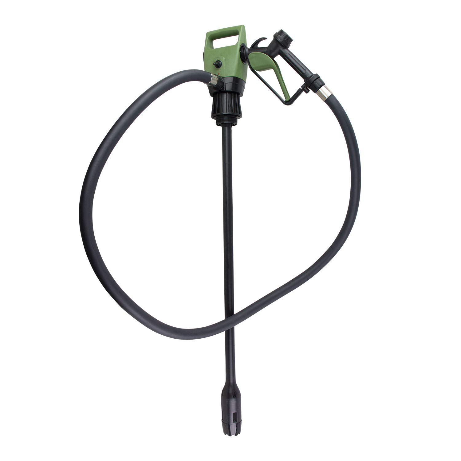 TERA PUMP TReDRUM 33.5-49'' IBC Totes Telescopic Plug-in Electric Drum Barrel Pump (Option - Rechargeable Battery Set/Car Bettery DC Cable) for DEF, Diesel, Water(not for Drinking Water)