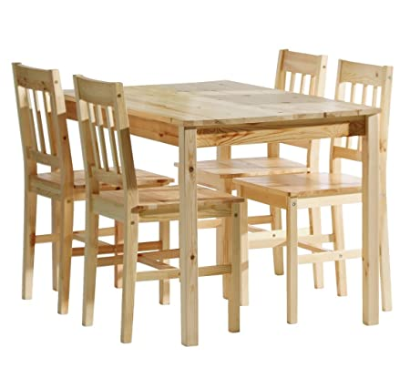 JYSK Table 4 Chairs TYLSTRUP Pine