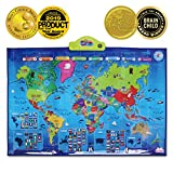 BEST LEARNING i-Poster My WORLD Interactive Map - Educational Talking Toy for Boys