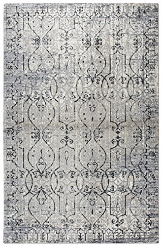 Rizzy Home Opulent Collection PN6982 Distress Scroll Work Area Rug 3'3