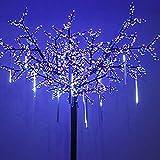 OMGAI Upgraded LED Meteor Shower Rain Lights,Drop/Icicle Snow Falling Raindrop 30cm 8 Tubes Waterproof Cascading lights for Wedding Xmas Home Decor - Cool White,US plug