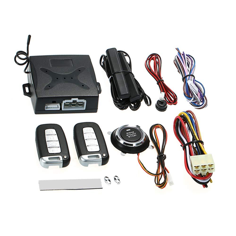 Festnight Car Alarm System, Intelligent PKE Keyless Entry Push Button Engine Ignition Start Stop Remote Starter