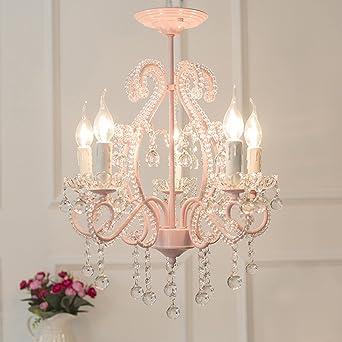 Uberlegen Best Wishes Shop Kronleuchter  Europäischen Kristall Kronleuchter  Schlafzimmer Restaurant Warm Mädchen Zimmer Rosa 5 Kopf