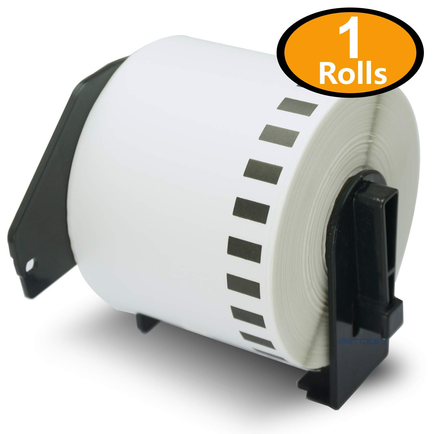 1 Rolls Brother-Compatible DK-4205 Removable Continuous Labels Black on White 62mm x 30.48M(2-3/7'' x 100') With Refillable Cartridge