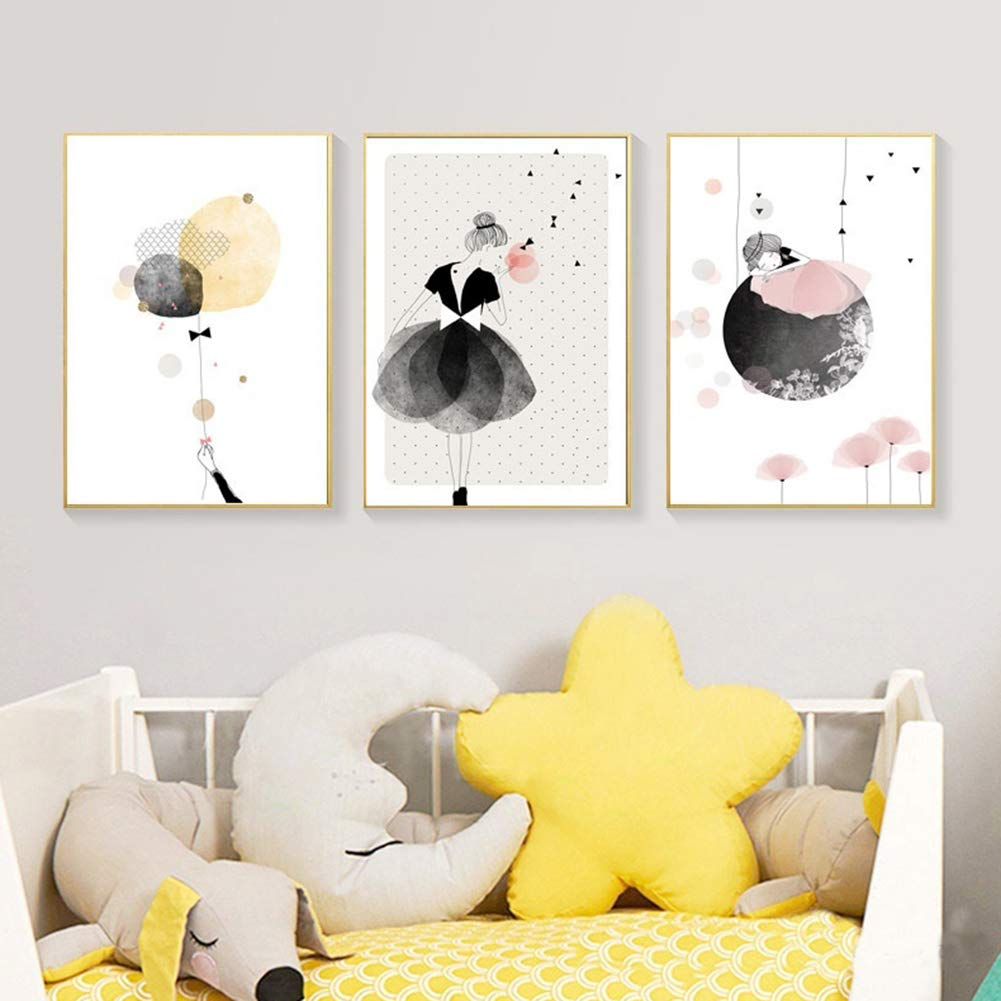 Spirworchlan 3er Set Kinderzimmer Babyzimmer Poster Ohne