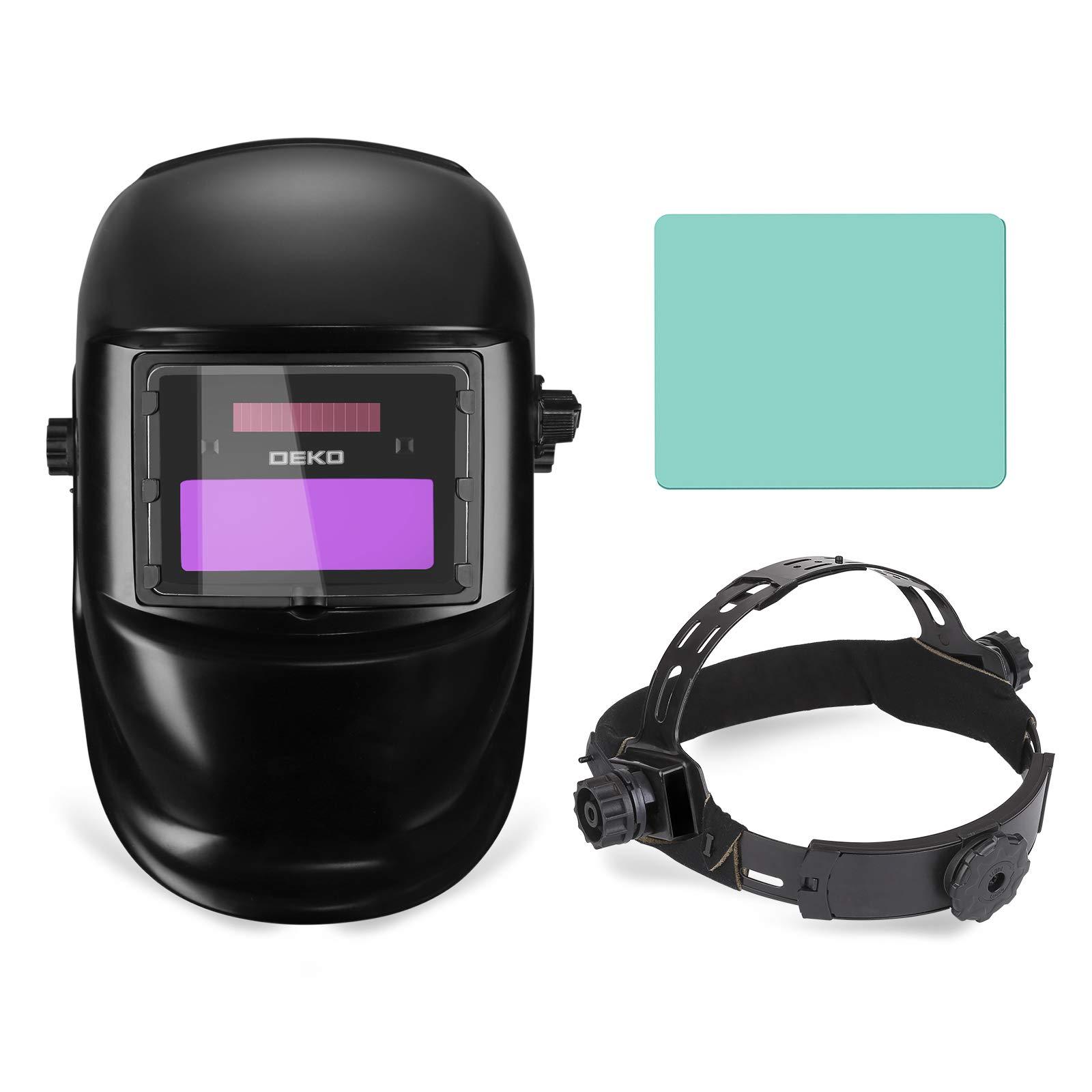 DEKOPRO Auto Darkening Solar Welding Helmet ARC TIG MIG Weld Welder Lens Grinding Mask New Black Design by DEKOPRO (Image #5)