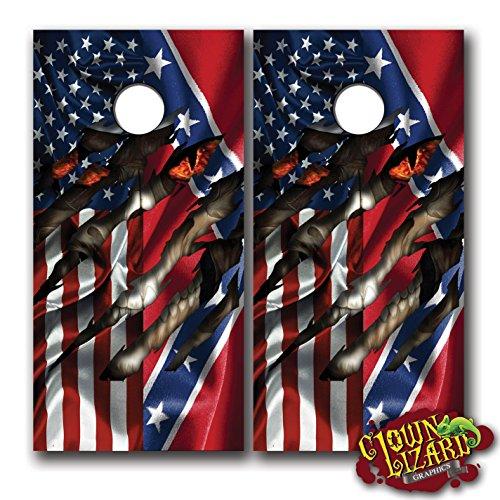 (Clown Lizard Graphics CL0011 Vinyl Graphic Tint Laminated Decal Cornhole Wrap Set, Pack of)