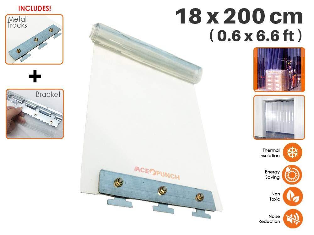 0.6 x 6.6 ft. Rouleau pour Marcher dans le Congelateur Acepunch Bete de Plastique PVC 18cm x 200cm Portes dentrepot et Chambres propres AP1173