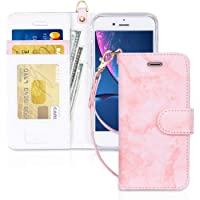 """FYY Case for iPhone 8/iPhone 7/iPhone SE 2020 4.7"""",[Kickstand Feature] Luxury PU Leather Wallet Case Flip Folio Cover…"""