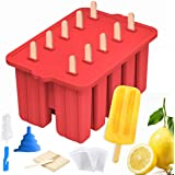 Silicone Popsicle Molds Maker,Large Homemade ICE Pop Molds Food Grade BPA Free Popsicle Mold with 50 Popsicle Sticks 50 Popsi