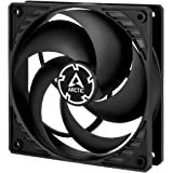 ARCTIC P12 PWM - 120 mm Case Fan with PWM, Pressure-optimised, Very quiet motor, Computer, Fan Speed: 200-1800 RPM - Black/Bl