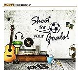 MQ Soccer Ball Football PVC Wall Sticker Shoot Goal Decal Kids Room Decor Sport Boy Art Bedroom DIY Birthday Gifts 60 x 80cm