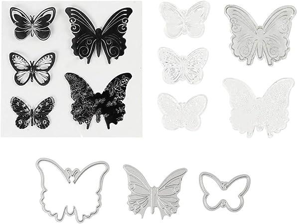Gr/ö/ße 3,5-5,5 cm Schmetterlinge 1Pck. Pr/äge- und Stanzformen Stempel