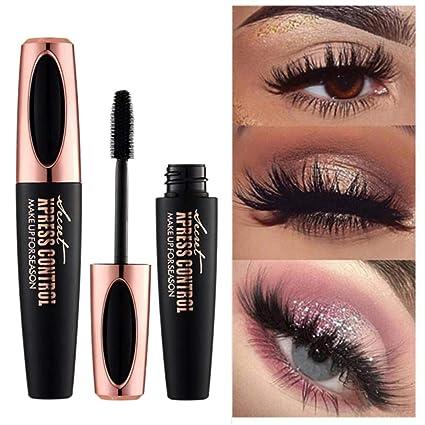 4d Seda Fiber De Pestanas Mascara Extension Maquillaje Negro Kit - Maquillaje-negro