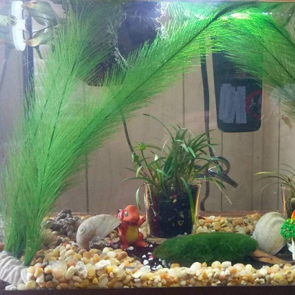 PQZATX Aquarium Decorations Fish Tank Artificial Green Water Plants Made Of Silk Fabrics Plastic,for All Fish and Pets 5Pcs