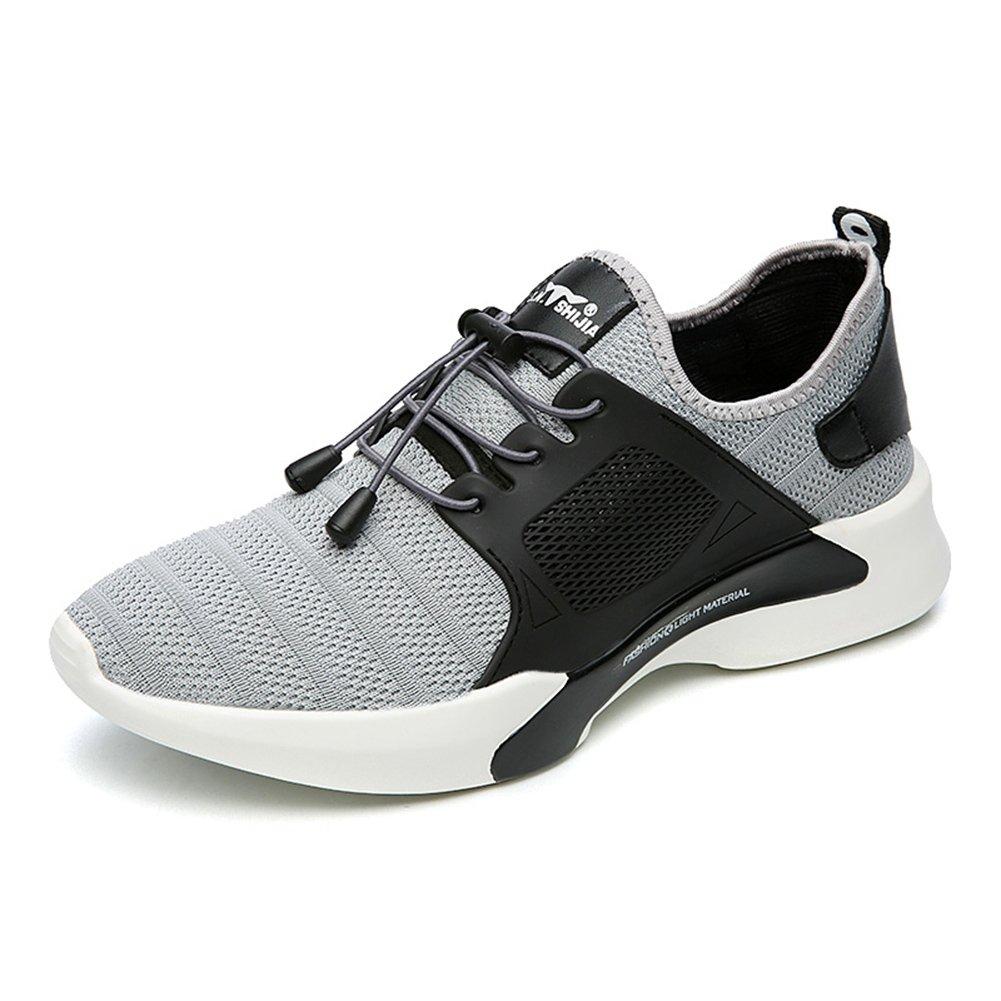 YIXINY Deporte Zapato FY-888463 La Primavera Y El Otoño Forman Resistentes Al Desgaste Deportes Respirables Y Zapatos De Ocio De Los Zapatos De Los Hombres ( Color : Gris , Tamaño : EU41/UK7.5-8/CN42 ) EU41/UK7.5-8/CN42|Gris