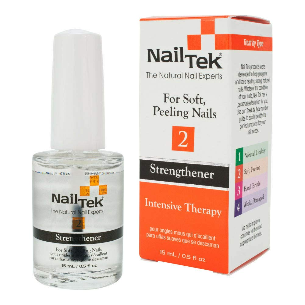 Nail Tek Intensive Therapy 2, Nail Strengthener for Soft and Peeling Nails, 0.5 oz, 2-Pack by Nail Tek