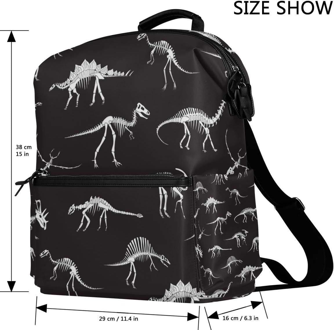 ColourLife Book Bag Dinosaur Fossils Laptop Backpack Casual Daypack School Bag for Men Women Student
