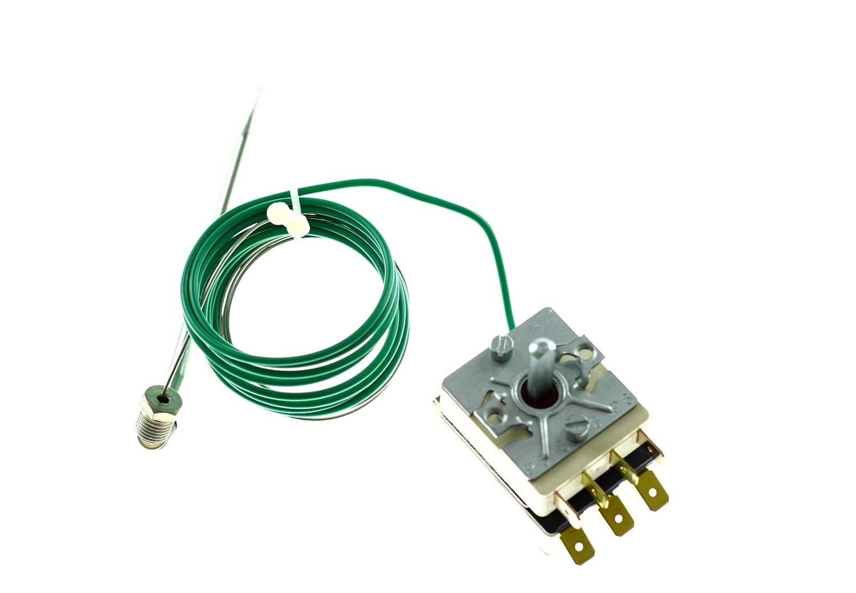 Ego - Termostato para freidora (rango de temperatura 30-110 °C, 1 polo, 1 CO, 16 A, diámetro de 6 mm, sonda de 113 mm): Amazon.es: Industria, ...