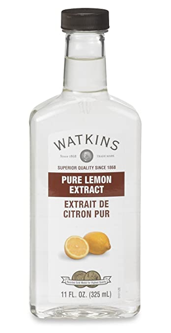 Watkins Pure Lemon Extract, 11 Fl Oz (Pack of 1), (Packaging may vary)