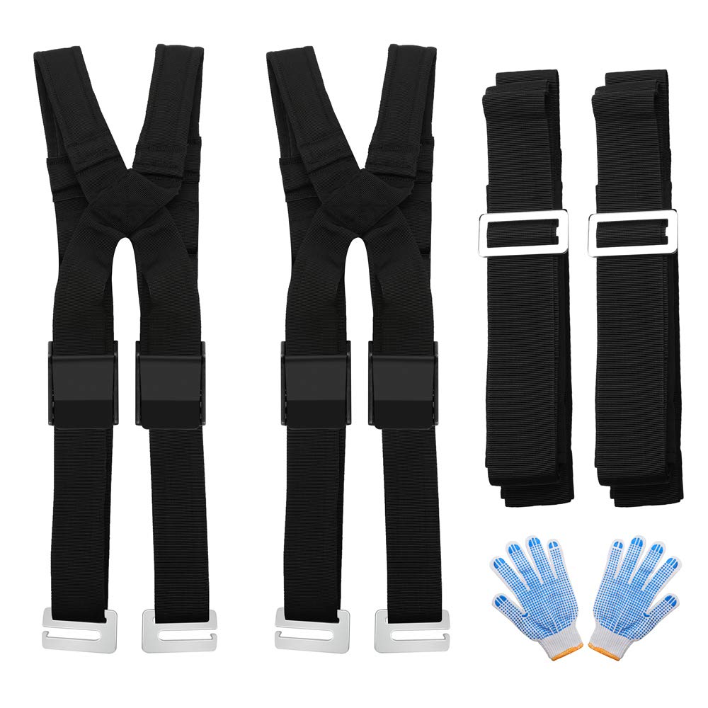 Aparty Moving Straps,Lifting Straps,Resizable Design Suitable All People,Painless Sponge Mats Shoulder Straps.Easy Move Lift,Carry,and Secure Furniture,Heavy Objects,Etc by Aparty