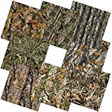 "Camo Self Adhesive Backed Vinyl Sheets 12"" x 12"" Camouflage Permanent Assorted Vinyl Works with Cricut, Silhouette Cameo and Other Craft Cutters - 8 Pack (Realistic Treestand Camowraps)"