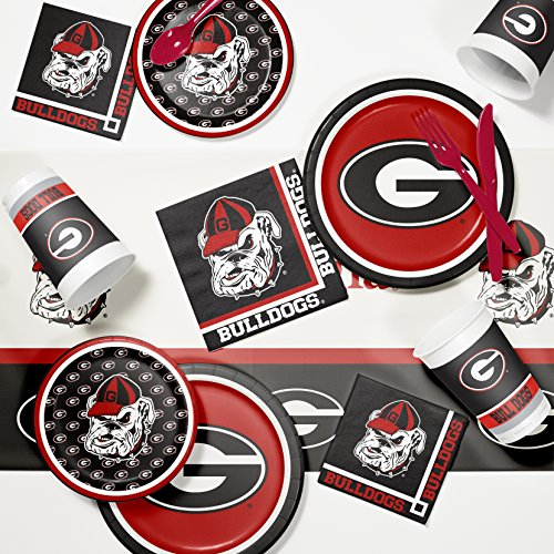 Ncaa Party Kit (University of Georgia Game Day Party Supplies Kit)