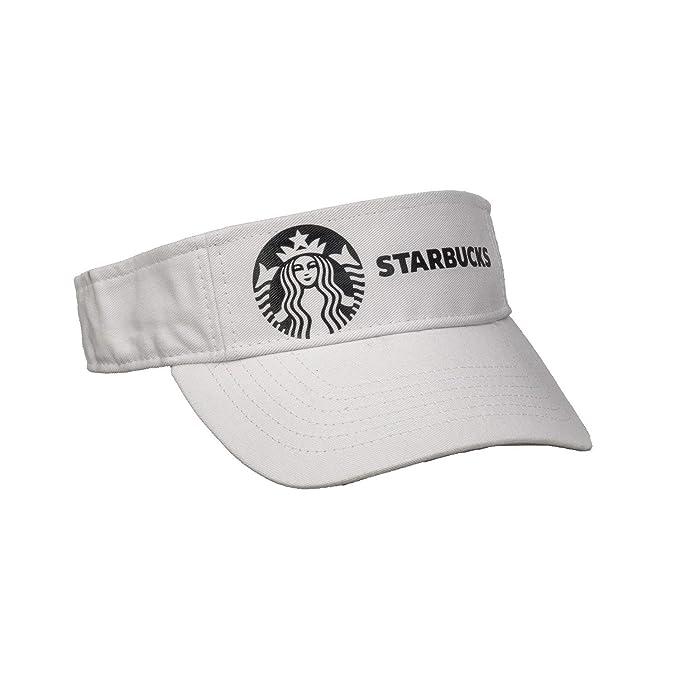 c157dff81 Amazon.com: Soft Metallic Foil Starbucks Design Visor: Clothing