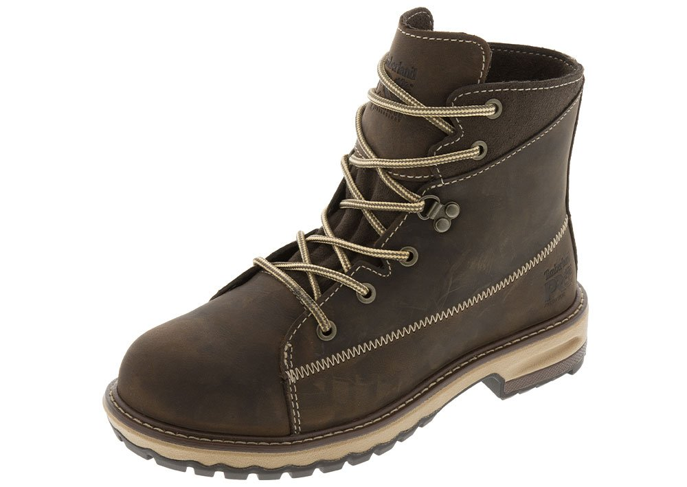 Timberland PRO Women's Hightower 6'' Alloy Toe Industrial and Construction Shoe, Kaffe Full-Grain Leather, 8 M US