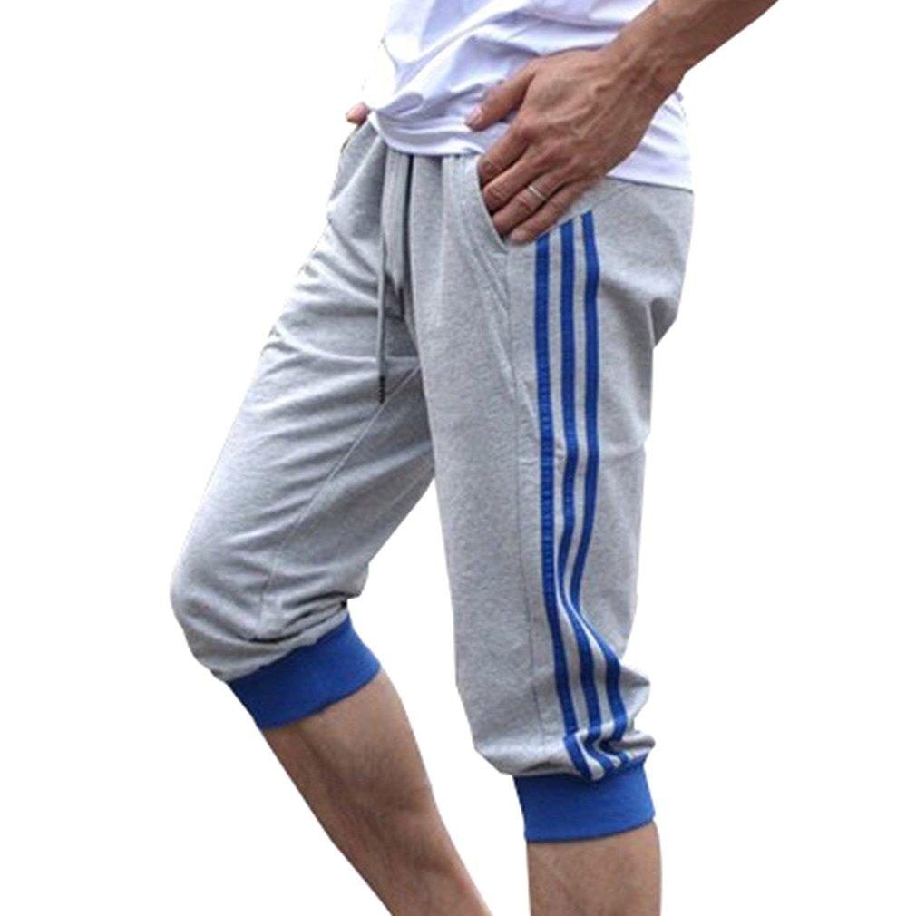 Männer Sport Sweat Hosen Shorts 3/4 Jogginghose Gym Cotton Casual Hosen M-2XL CHM082301