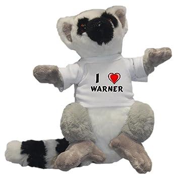 Shopzeus Lémur de cola anillada personalizado de peluche (juguete) con Amo Warner en la