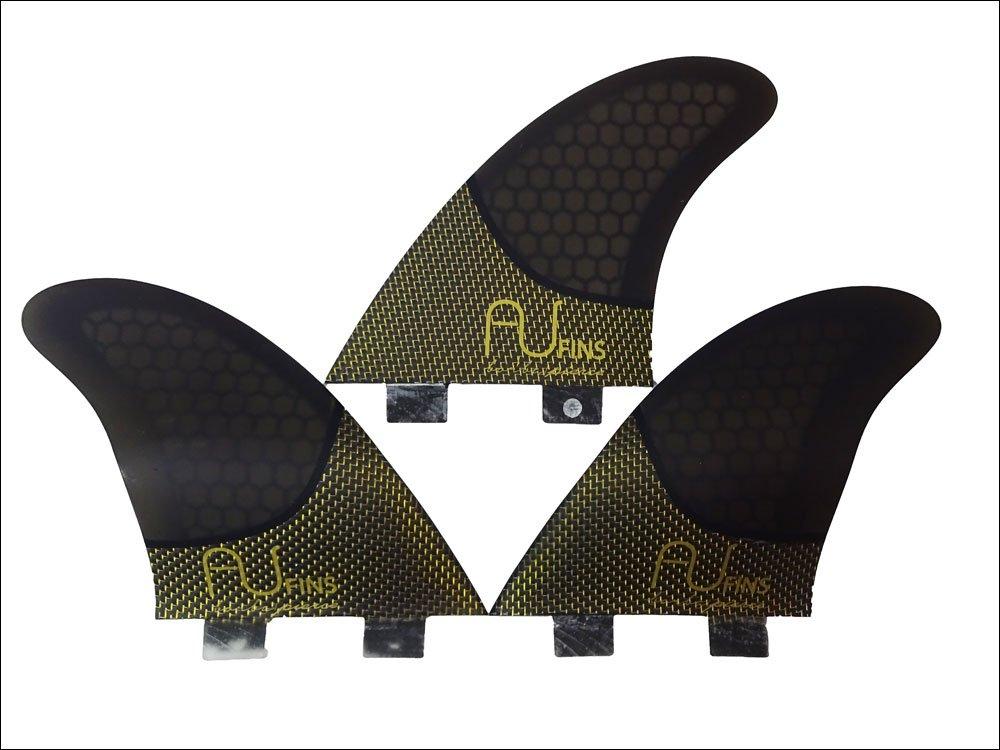 AU fin エーユー フィン AU LRc [Mサイズ] ハニカム チタンカーボン ショートボード フィン トライフィン 3枚セット FUTURE  B07D5YCP6T