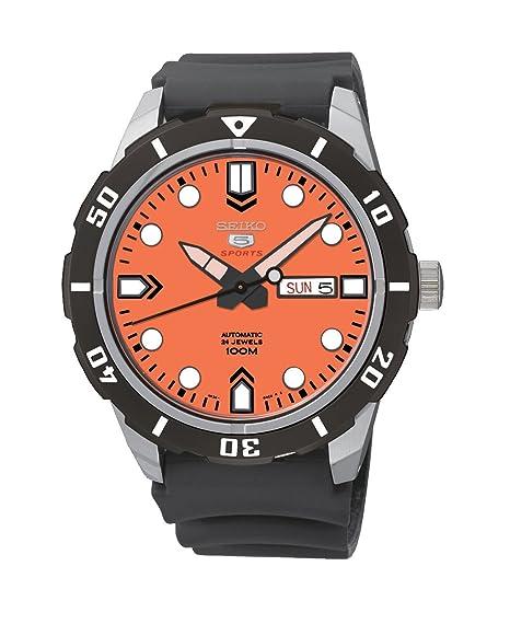 Seiko 5 automático de hombre-reloj analógico caucho SRP675K1: Amazon.es: Relojes