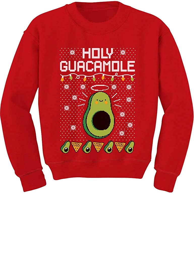 Tstars Funny Avocado & Nachos Holy Guacamole Ugly Christmas Youth Kids Sweatshirt GaMPha0gfm