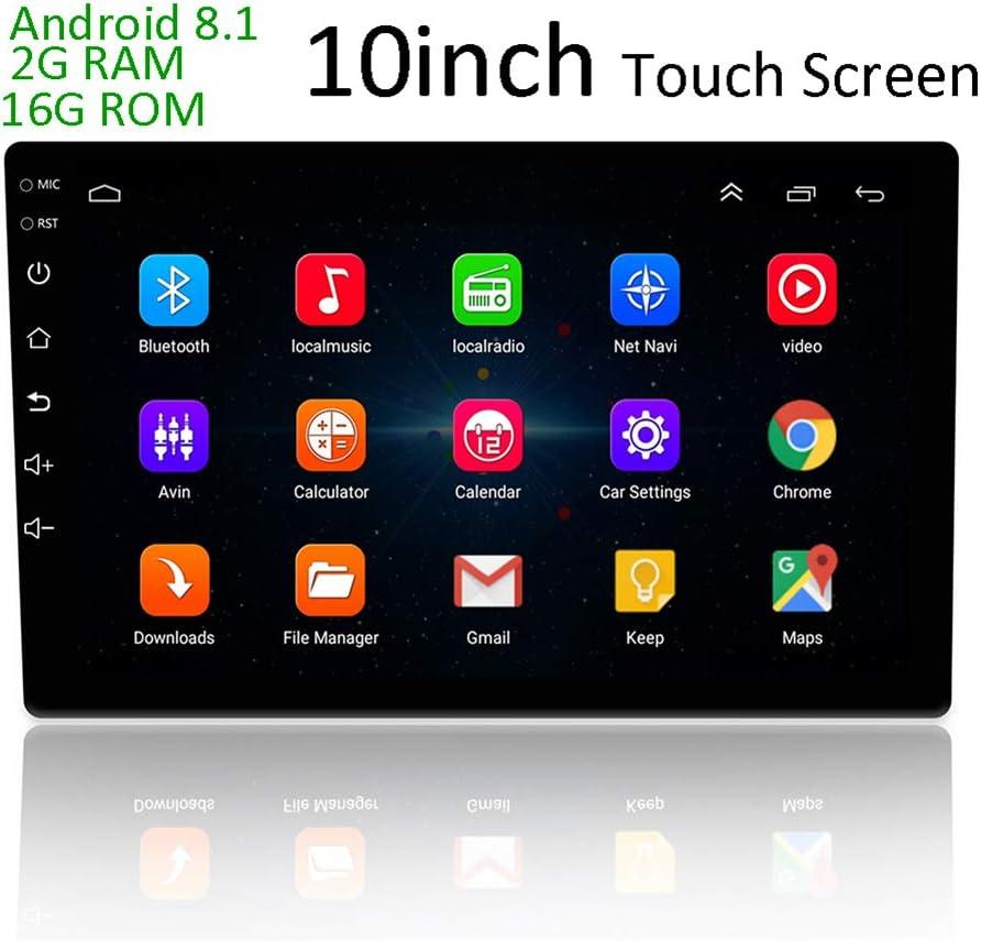 LEXXSON Android 8.1 Autoradio mit GPS-Navigation 10.1 inch Touchscreen Auto Stereo mit Bluetooth Wifi Mirror Link USB-Player
