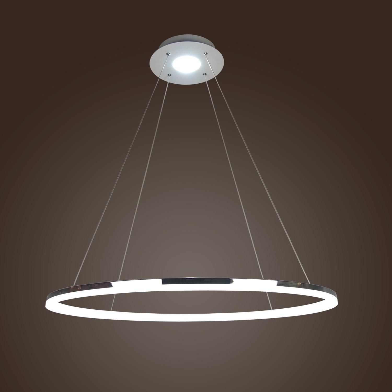 LightInTheBox Modern Simple Design Mini Pendant Living LED Ring Chandelier Ceiling Light for Garage, Game Room, Study Room/Office, Dining Room, Bedroom, Living Room