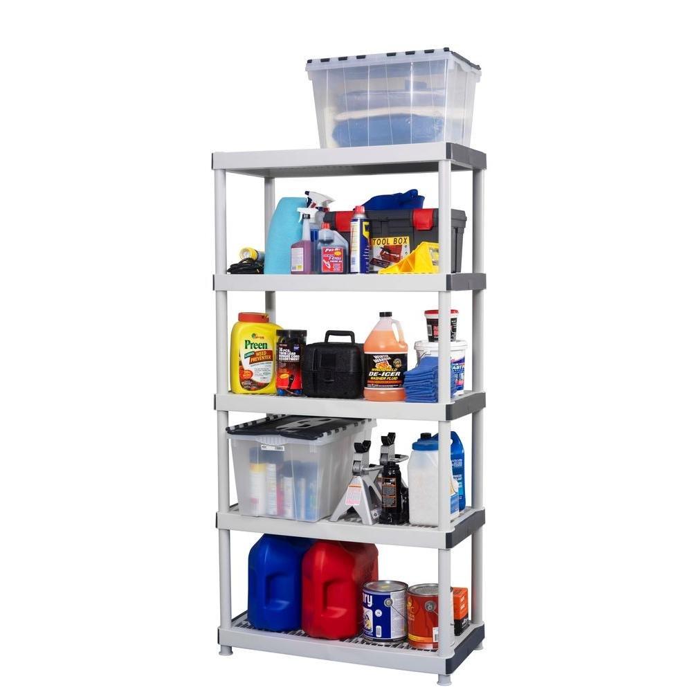 36 W x 18D x 72H Workforce Resin 5 Shelf 17601099