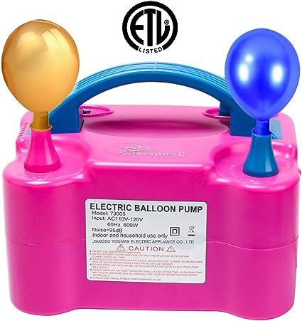 Bomba de aire portable eléctrica Maquina Para Inflar Globos fiesta de cumpleaños