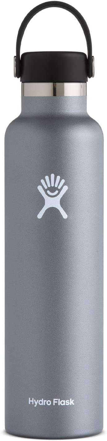 Hydro Flask Water Bottle - Standard Mouth Flex Lid - Multiple Sizes & Colors