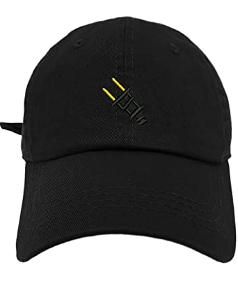 8e1cb0cb563 TheMonsta Plug Image Style Dad Hat Washed Cotton Polo Baseball Cap (Black)