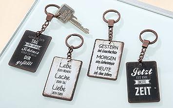 schlüsselanhänger sprüche Metall Schlüsselanhänger mit Spruch Leben Geschenk Weisheiten  schlüsselanhänger sprüche