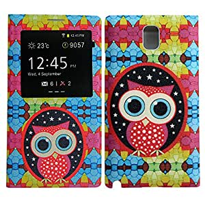 Samsung Galaxy Note 3 N9000 Battery Flip NIGHT OWL PU LEATHER case móvil casos bag Cover BATTERY COVER protección thematys®