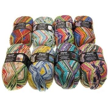 Opal Hundertwasser II - Lana para tejer calcetines (8 ovillos de 100 G: Amazon.es: Hogar
