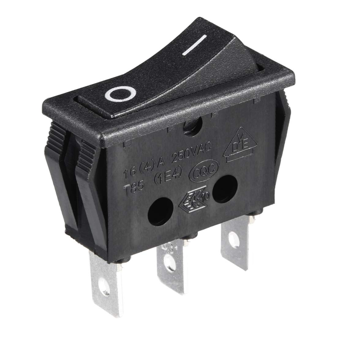 uxcell 5Pcs AC 20A//125V 22A//250V On Off SPST Switch 3 Pins 2 Position Green LED Light Boat Rocker Switches