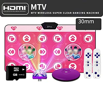 Dance mat Quality New Double for Dancers HDMI Interface Home Somatosensory Game Running and Dancing Machine -2020 (Color : Mickey Red, Size : 30mm): Home & Kitchen
