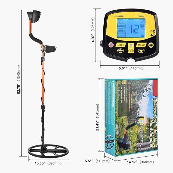 GTFHUH Detector de Metales escáner de Profundidad subterránea ...
