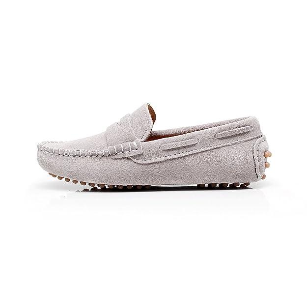 Shenn Garçons Filles Mignonnes Mocassins En Cuir Chaussures De Confort À Porter S8884 (noir, Ue28)