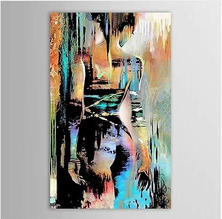 Xiaoxinyuan 100 Peint A La Main Peinture A L Huile Corps Humain Abstrait Art Femme Nue Retour Mur Photos Peinture Salon Decoration 70 100cm Amazon Fr Cuisine Maison
