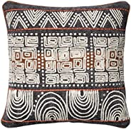 Loloi Loloi-DSETP0379BBRUPIL1-Blue Decorative Accent Pillow Cotton & Polyester Cover with Down Fill 18&quo