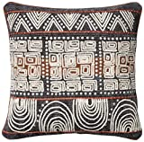 Loloi  Accent  Pillow  DSETP0379BBRUPIL1  Cotton  &  Polyester  Cover  with  Down  Fill    18''  x  18''  Blue/Rust